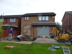 Cronton extension demolition