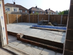 Hough Green extension landscaping