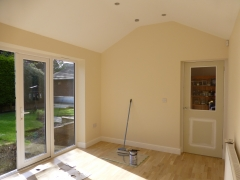Newton le Willows extension painting