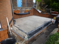 Newton le Willows extension slab
