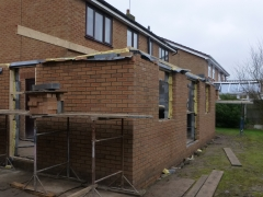 house extension widnes rear wall