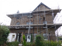 liverpool renovation scaffold